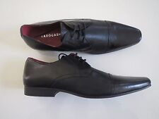 Tarocash Men's Sector Perforated Black Genuine Leather Lace Up Shoe  Size UK 10