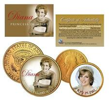 PRINCESS DIANA 1961-2011 * 50th Birthday * Genuine 24K Gold Plated 2-Coin Set