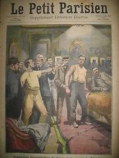 CRIME RECONSTITUTION SUISSE TUNNEL DE LOETSCHBERG JOURNAL LE PETIT PARISIEN 1908