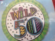 "50th birthday 18"" foil balloon ""STILL WILD AT 50"" #118257"