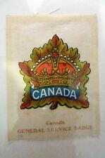 B.D.V. Cigarettes Silk- CANADA GENERAL SERVICE SILK BADGE
