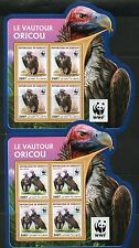 DJIBOUTI 2016 WWF WORLD WILDLIFE FUND VULTURES SET OF 4 MINIATURE SHEETS MINT NH