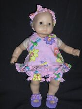 """Smiling Flowers Set 15"""" Doll Clothes Handmade To Fit American Girl Bitty Baby"""