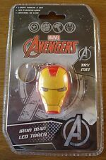 MARVEL AVENGERS 'IRON MAN' LED TORCH / KEYRING.