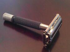 Vintage 70's Gillette Black Handle Flare Tip Safety Razor Date Code T 2