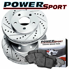 Fit 2008-2014 Smart Fortwo Front PSport Drill Slot Brake Rotors+Semi-Met Pads