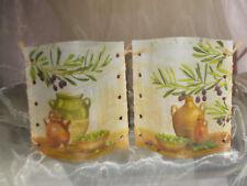 2 Deko Windlichter Oliven Olivenzweig Krug Tischlicht Geschenkidee