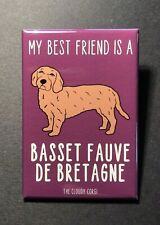 Basset Fauve De Bretagne Magnet Handmade Scent Hound Dog Gifts and Home Decor