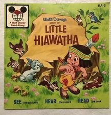 WALT DISNEY'S STORY OF LITTLE HIAWATHA Read Along Book Only No Record 1970 RA-8