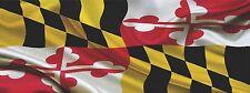 "MARYLAND FLAG VINYL DECAL TRUCK CAR WRAP -  48"" x 18"""