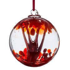 Glass Spirit or Friendship Ball, 10cm Red By Sienna Glass