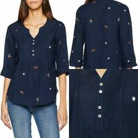 Ex FAT FACE DITSY EMBROIDERED POPOVER  BLOUSE NOW £14.99 + 3.99 Delivery! (B143)