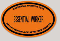 Essential Worker Safety Approved Vinyl Sticker Decal made In USA