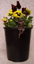 Flower Pot Hugger Fairy #4 NEW bronze toned polystoine
