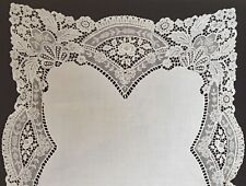 LONG VINTAGE TABLE RUNNER GUIPURE LACE UU125