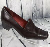 Enzo Angiolini Women's Brown Leather Pump Heels Shoes Size 6 M