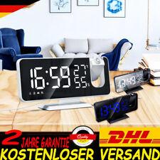 Radiowecker mit Projektion LED USB FM Digital Dimmbar Tischuhr Alarm 2021
