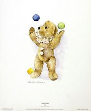 "Christine Groves ""Juggling"" Teddy Art PRINTNew SIZE:25cm x 32cm BROWSE OUR SHOP"