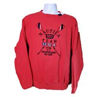 Nautica Team USA vintage 90's sweatshirt spellout embroidered paddling rowing S