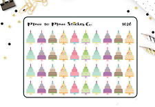 1026~~40 Birthday Cake Planner Stickers.