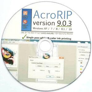 AcroRIP 9.0.3 Vollversion Software für Weißdruck UV - DTG - DTF- und UV- Drucker