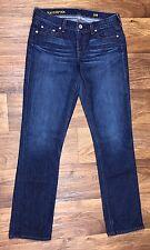 J Crew Sz 29R Skinny Straight Matchstick Stretch Dark Wash Women Jeans