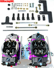 QUICK FUEL BR-67303-B2 850 CFM BLACK BLOWER SUPERCHARGER GAS CARBS LINES LINKAGE