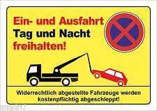 Ein- und Ausfahrt freihalten! - ALU- oder PVC-Schild oder Klebeschild, 5 Formate