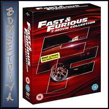 FAST & FURIOUS 1 - 7 PLUS BONUS DISC MOVIE COLLECTION *** BRAND NEW DVD BOXSET*