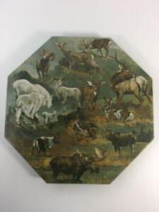 Springbok Okta-Puzzle 1971 North American Hoofed Game Animals Puzzle Deer Moose
