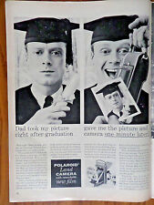 1956 Polaroid Land Camera Ad Graduation Theme