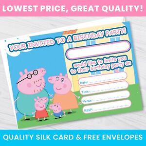 Peppa Pig Birthday Party Invitations - Girl/Boy Peppa Pig birthday Invites