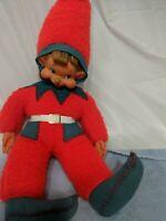 Vintage Christmas rubber Face Stuffed pixie Elf