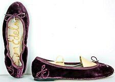 8e48bd561 Sam Edelman Ballet Flats Size 6 Felicia Purple Velvet Monogram ML30 FW400