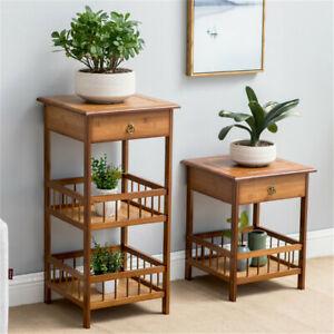 Telephone Bedside Table Cabinet Nightstand Side End Drawer Shelf Storage Bedroom