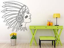 Wall Room Decor Vinyl Sticker Nursery Decal Indian Beautiful Girl Sweet F2101