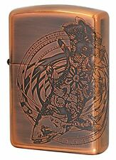 Zippo Armor Case Coelacanth Etching Antique Copper Plating Japan Limited F/S