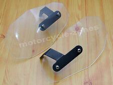 Clear Wind Deflector Hand Guard Protector Shield Set For Harley Cruiser Bobber