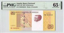 Angola 2012 P-152 PMG Gem UNC 65 EPQ 50 Kwanzas