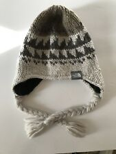 Women's North Face Knit Winter Warm Fuzzy Hat With Ear Flaps Beanie