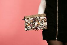 Heavily embellished diamante sequin beaded Accessorize clutch bag