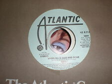 Abba 45 When All Is Said And Done ATLANTIC PROMO