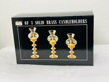 Solid Brass Candle Holders set of 3- Unbranded