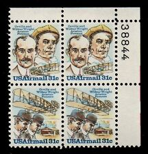 ALLY'S STAMPS US Plate Block Scott #C91-2 31c Wright Brothers [4] F/VF MNH [STK]