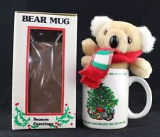 "Christmas Mug Holiday Koala Bear Plush Toy Inside 4"" Cup & 6"" Stuffed Animal"