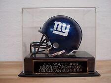 Football Mini Helmet Display Case With A J.J. Watt Houston Texans Nameplate