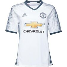 New ADIDAS MANCHESTER UNITED Junior Boys White Jersey Shirt Size XL 15-16 176cm