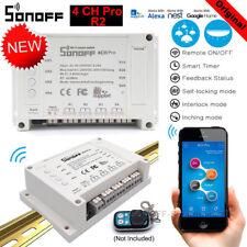 Sonoff 4CH Pro 4 manera conmutador inteligente inalámbrico Wifi de Montaje de control remoto 433 MHz