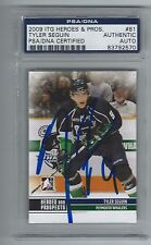 TYLER SEGUIN SIGNED 2009/10 HEROES AND PROSPECTS CARD #81 PSA/DNA CERTIFIED