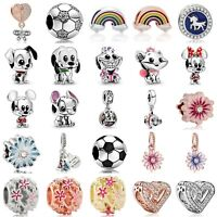 New Design European Charms Silver Beads Pendant Fit 925 Bracelets Christmas Gift